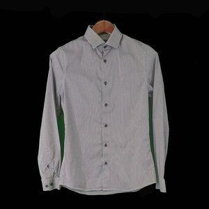 H&M Long Sleeve Slim Fit Black & White Small Check